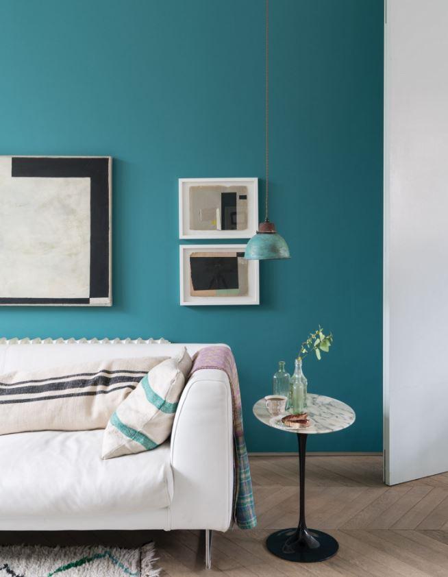 Peinture Salon Couleur Bleu Vert Vardo N288