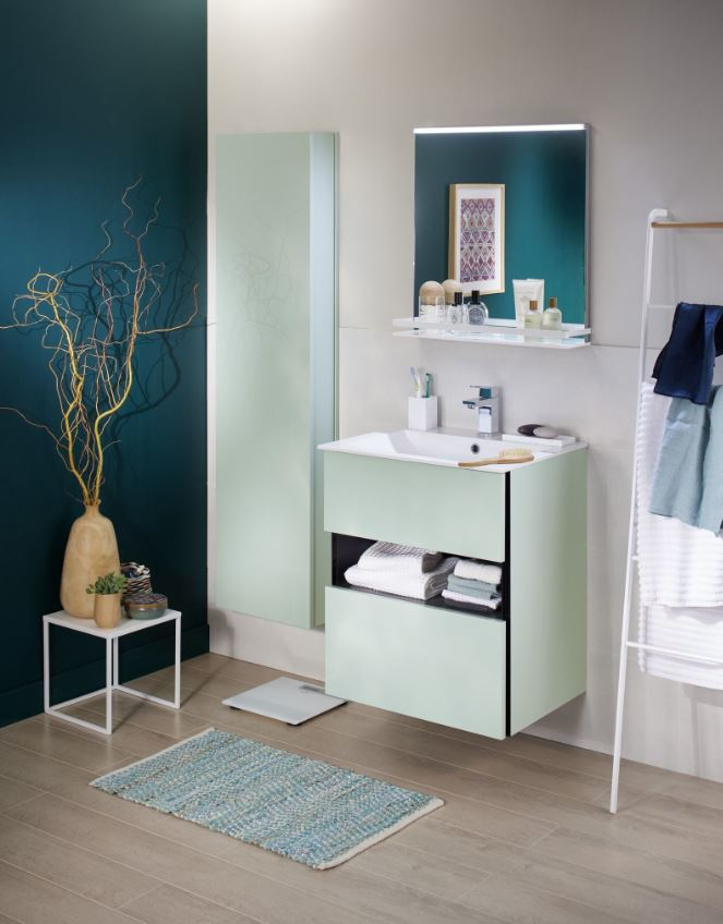 Salle De Bain Moderne Pastel Et Couleur Riche