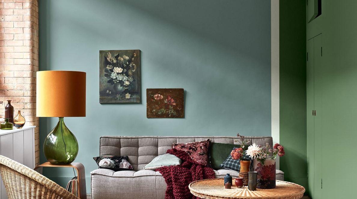 Peinture Salon Couleur Vert Eucalyptus Et Tropical