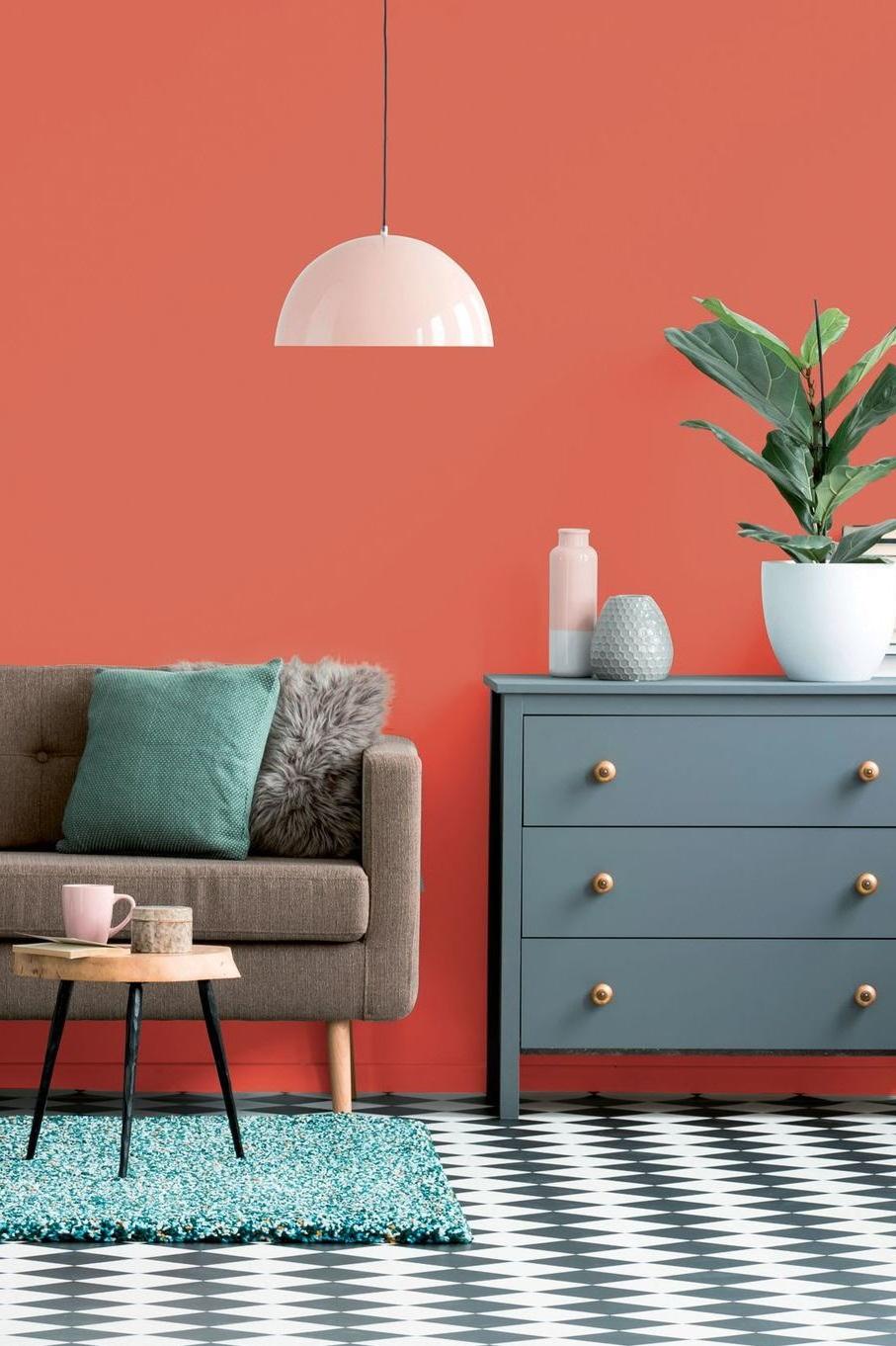Peinture Salon Couleur Orange Accent De Rouille