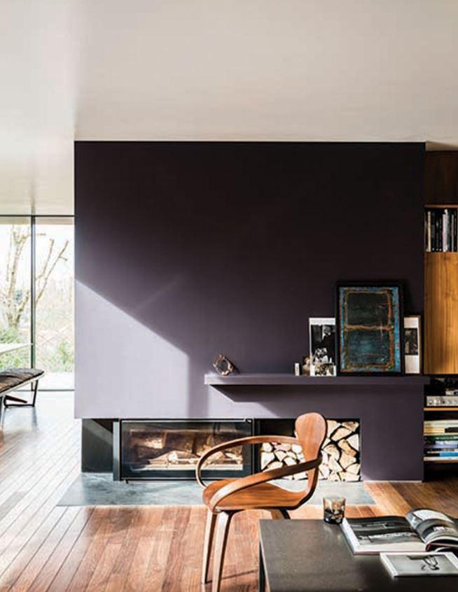 Peinture Salon Couleur Noir Base Rouge