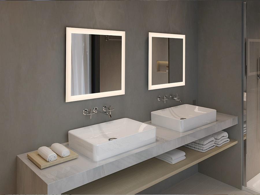 Salle De Bain Zen Miroir Eclairage Peripherique