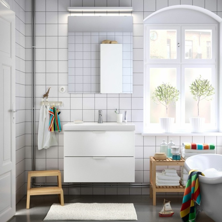 Salle De Bain Moderne Joints Colores