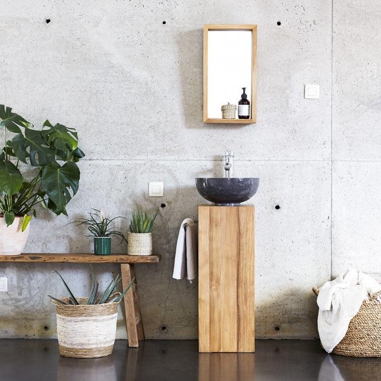 Salle De Bain Zen Mobilier Minimaliste Et Mur Béton