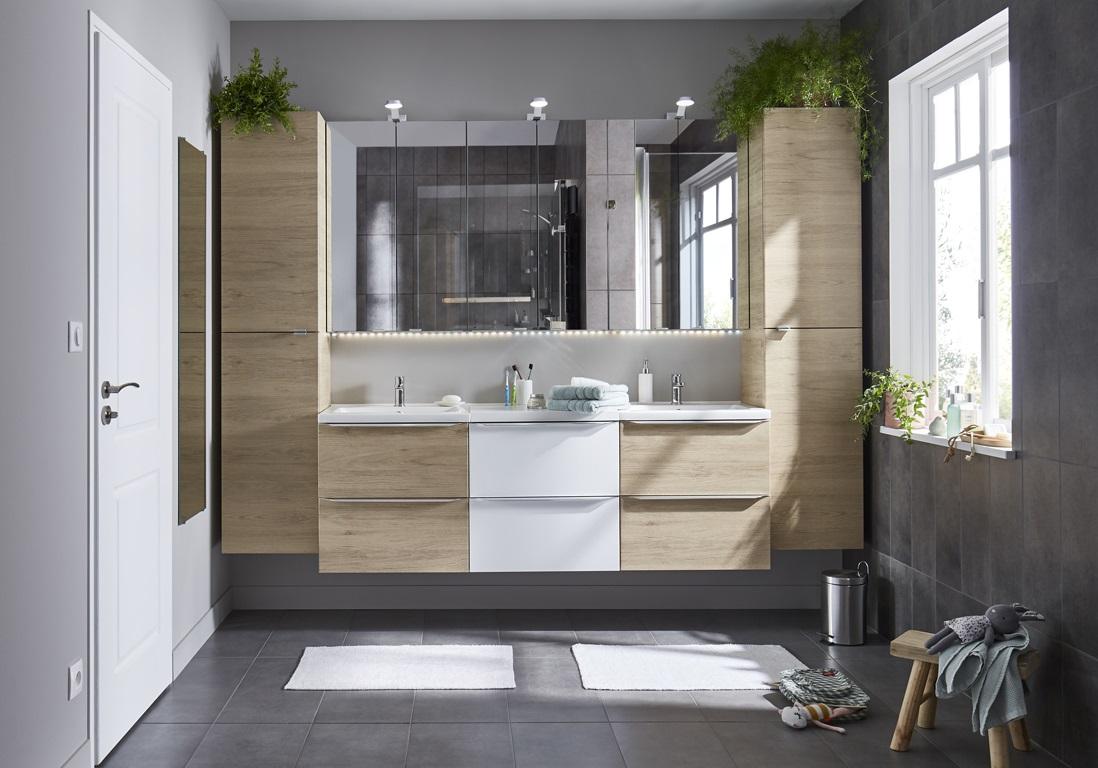 Salle de bain zen anthracite