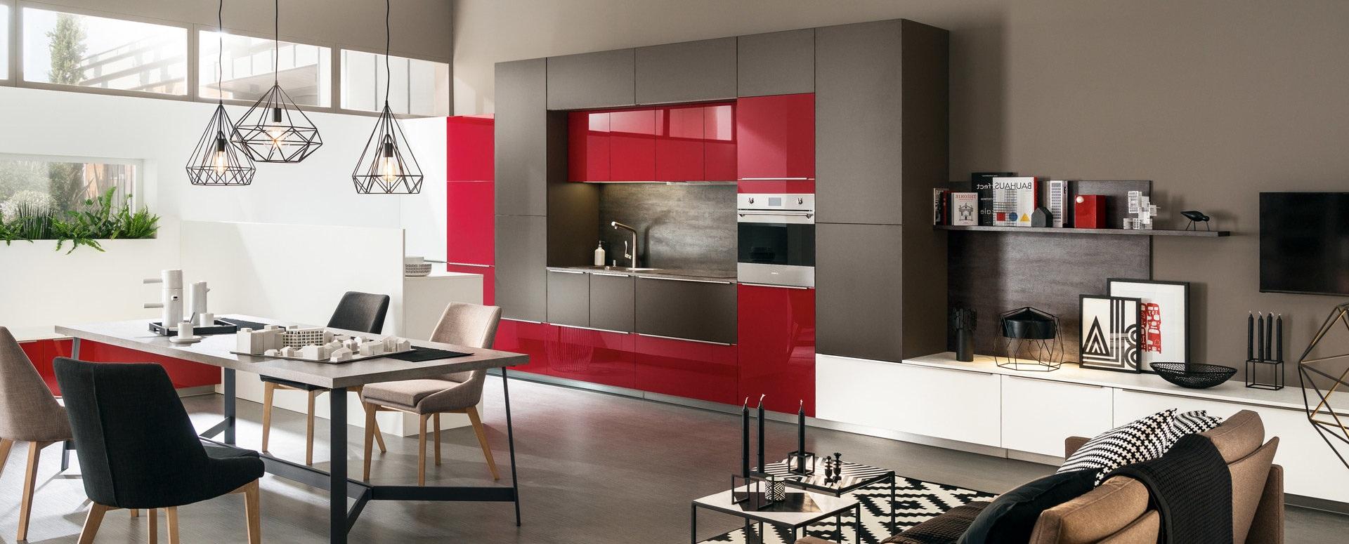 Cuisine Ouverte Moderne Rouge