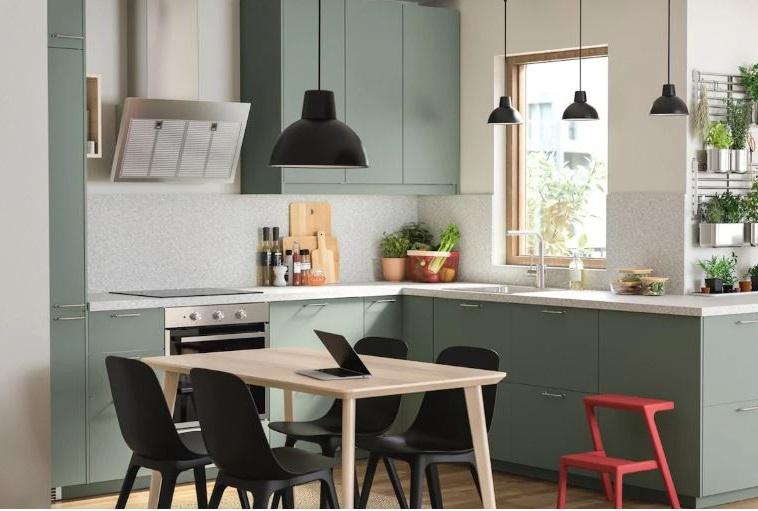Cuisine Verte Ikea Bodarp Porte