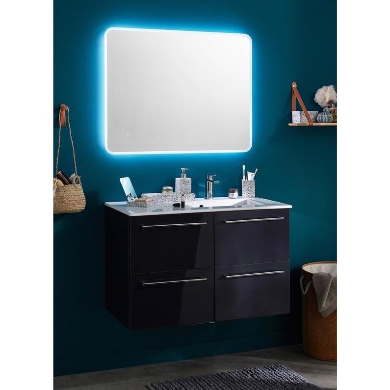 Grand Miroir Mural Rectangulaire Lumineux