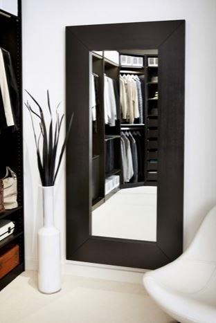Grand Miroir Mural Avec Cadre Noir