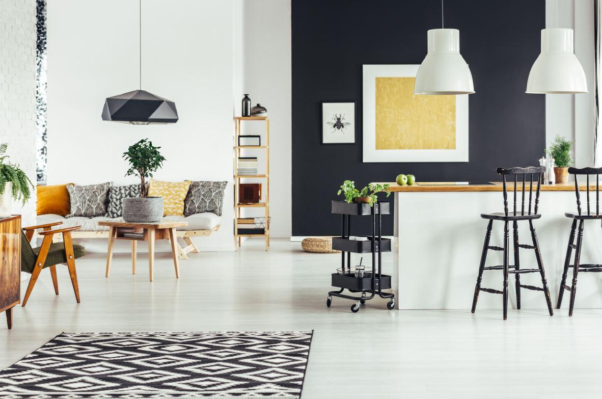 Inspiration Cuisine Ouverte Blanche Et Noire