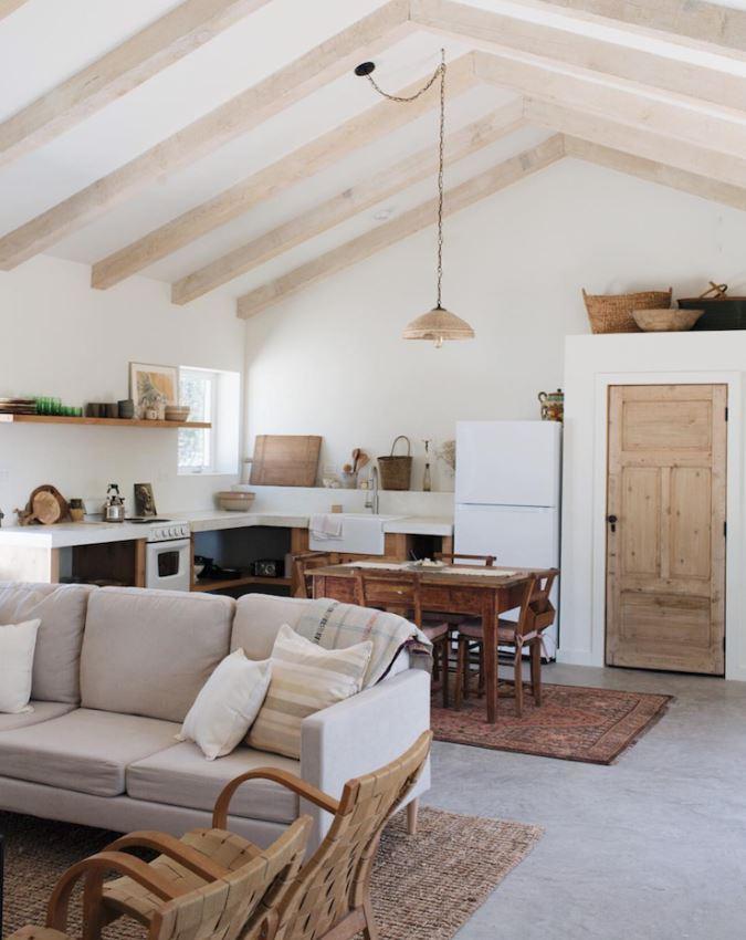 Salon Ouvert Bois Et Blanc