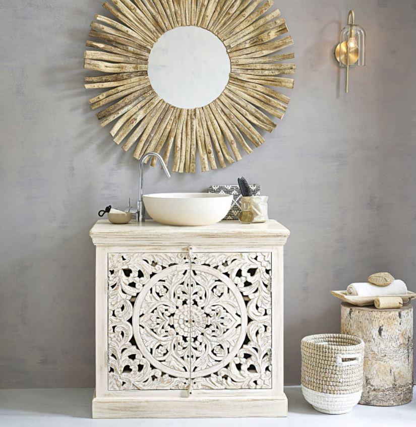 Table Style Rondin De Sapin