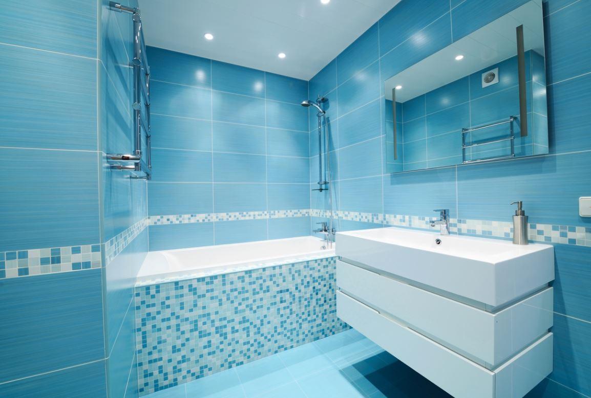Carreaux Et Mosaïque Bleu Turquoise Salle De Bain