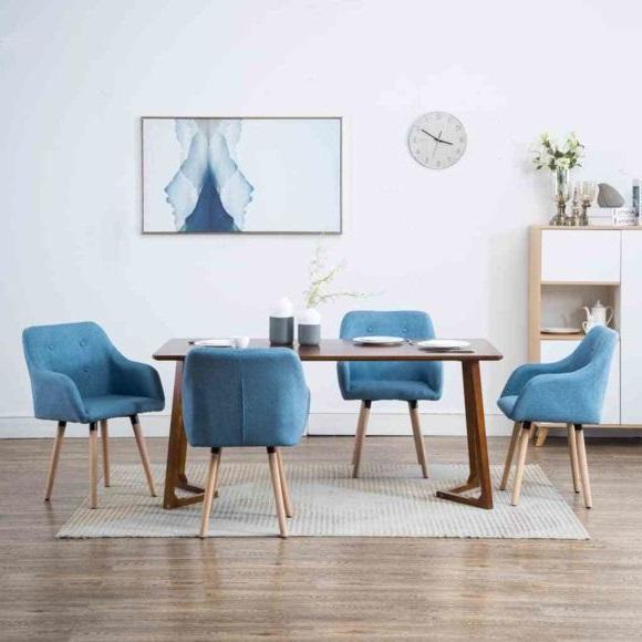 Chaise à Dîner Bleu Turquoise