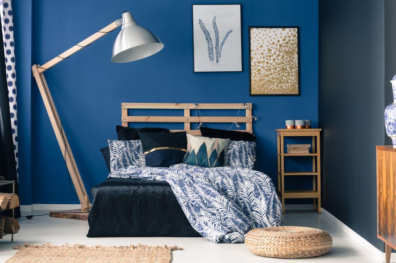 Chambre Bleu Art Deco