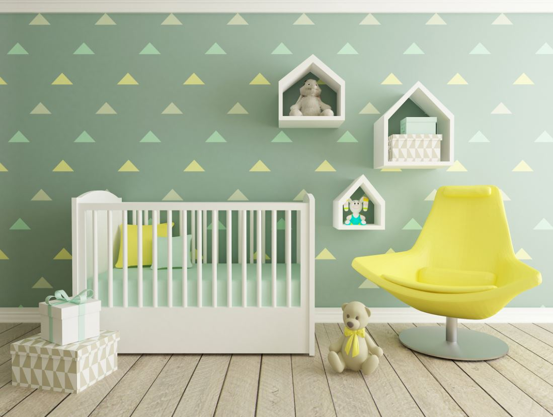 Chambre D'enfant Verte