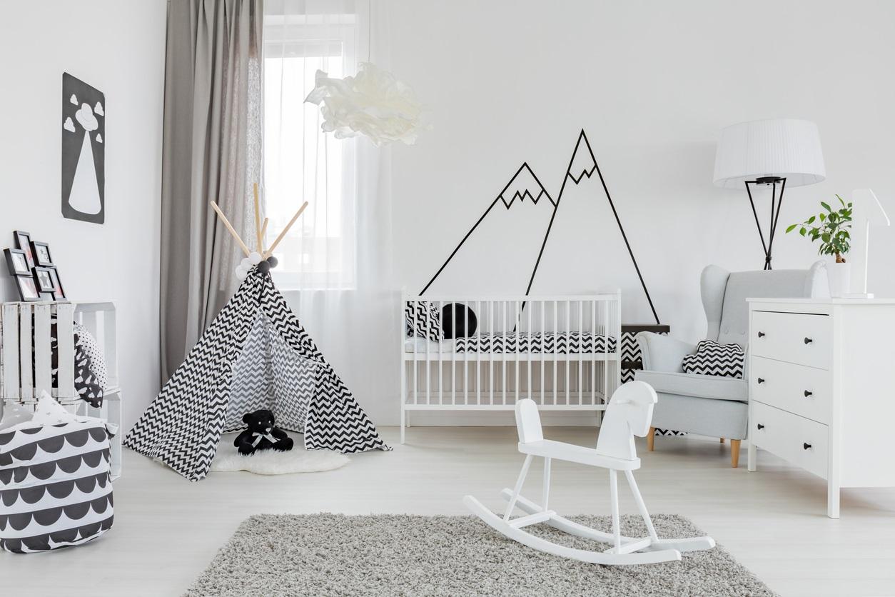 Chambre Pour Bebe Noire Et Blanche Istock