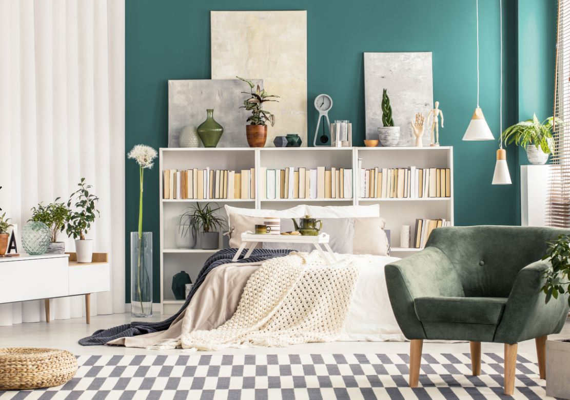 Chambre Scandinave Bleu Turquoise