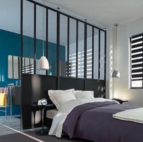 Cloison Noire Pour Une Chambre Moderne