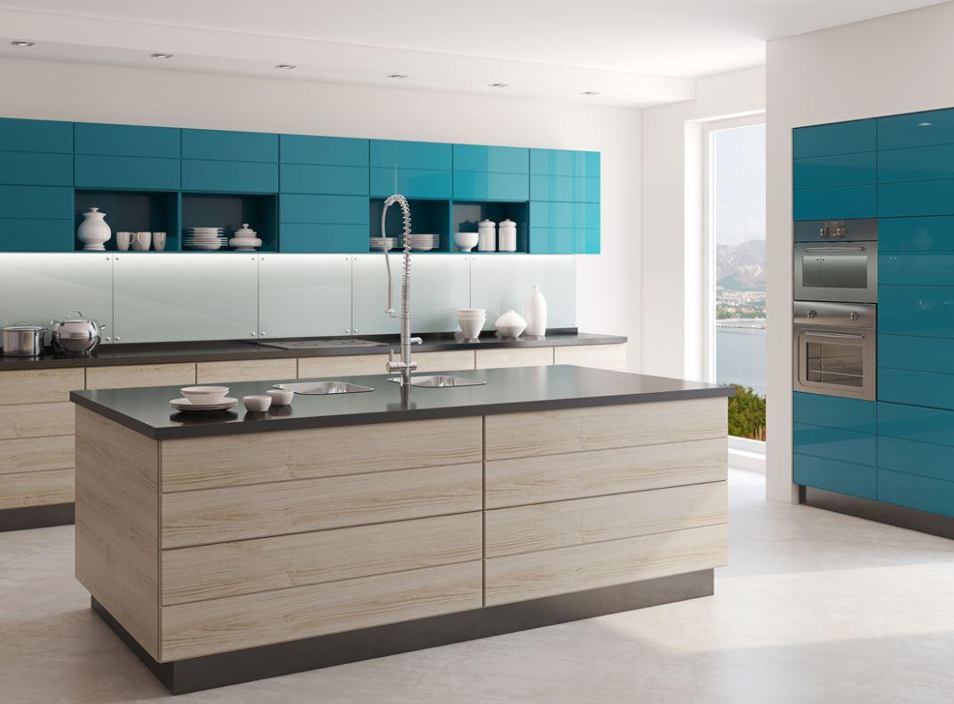 Cuisine Bleu Turquoise Vive