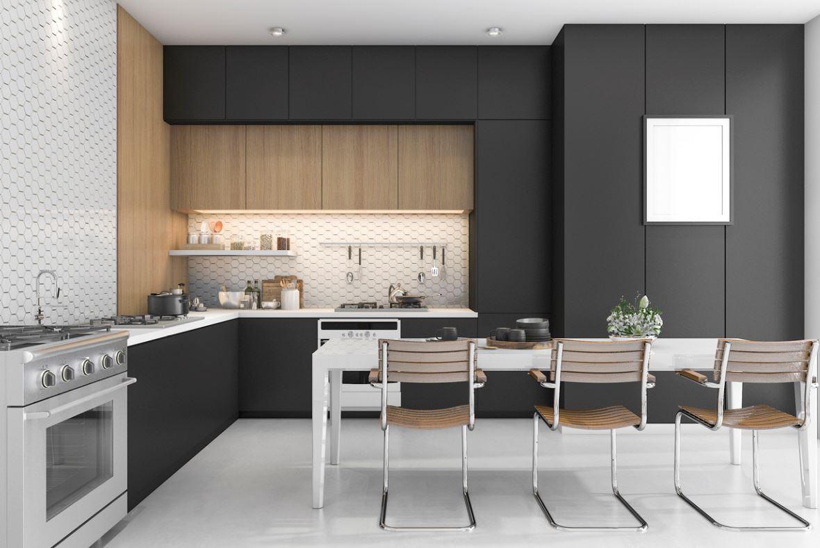 Cuisine Moderne Noir Et Blanche