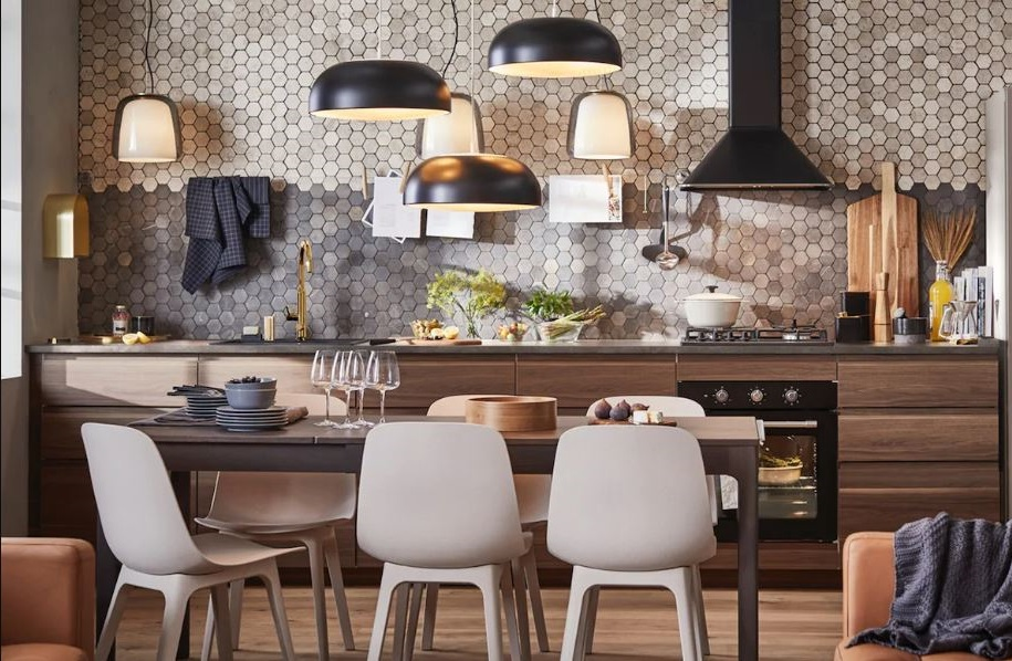 Cuisine Noir Et Bois Ikea