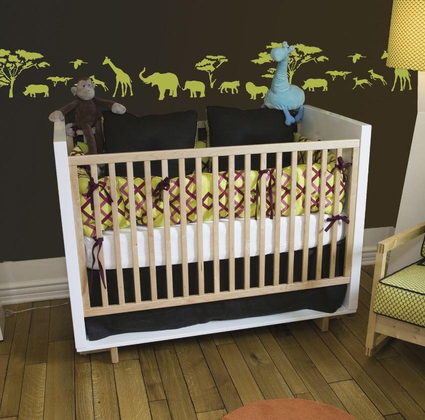 Frise Murale Savane Pour Chambre D'enfant
