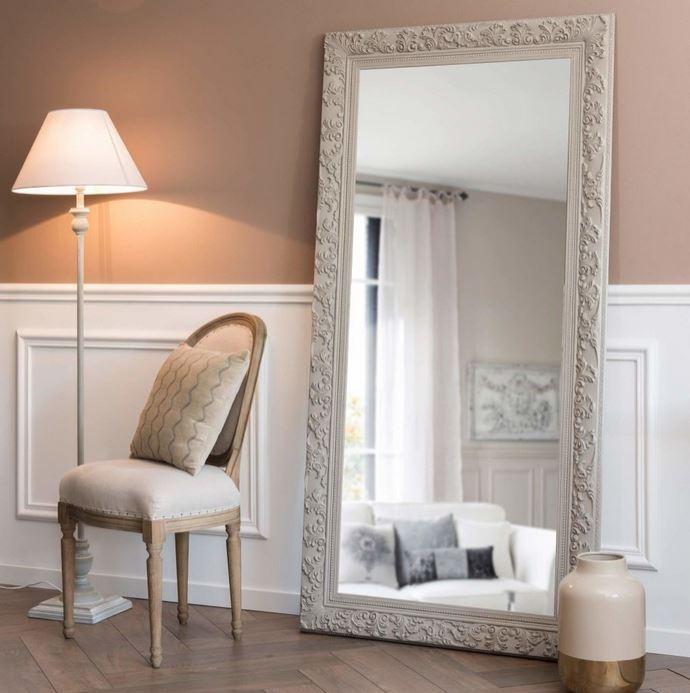 Grand Miroir Mural Style Vintage