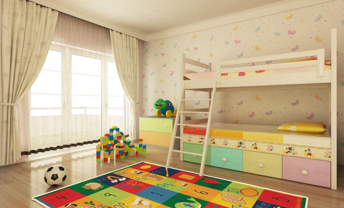 Lits Superposes Avec Deux Couchages Enfant Istock