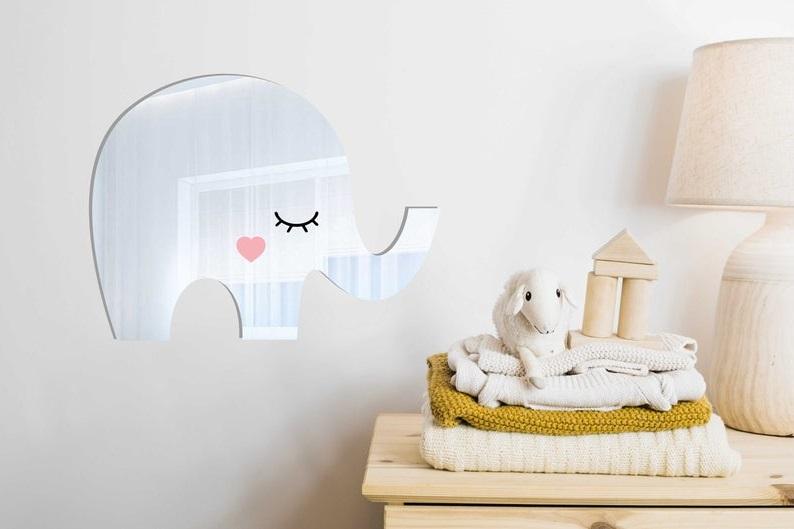 Miroir éléphant Pour Chambre D'enfant