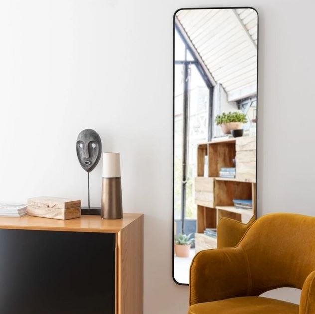 Miroir En Métal Noir, Miroir Mural
