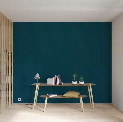 Mur Bleu Sublimé De Touches Brun Clair