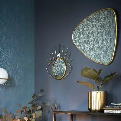 Murs Bleu Et Miroirs