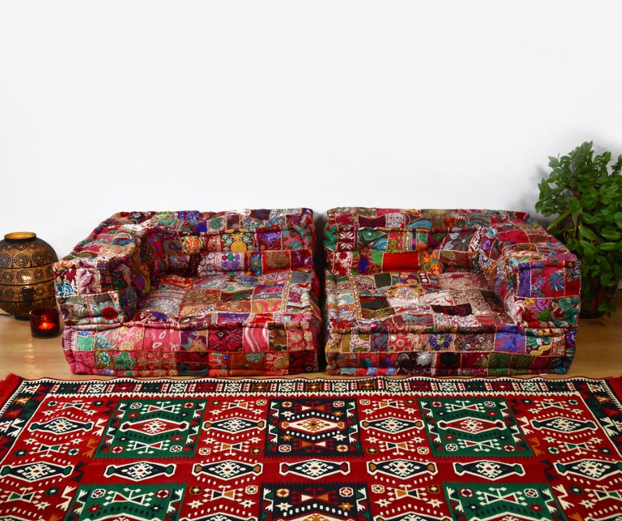 Salon Marocain Aux Couleurs Chaudes