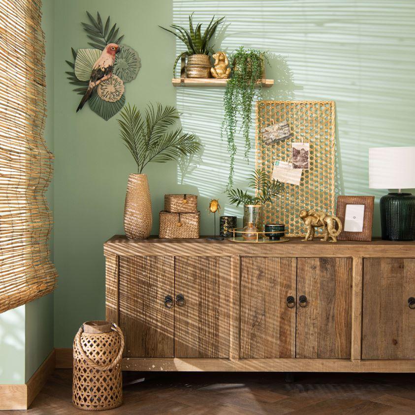 Vert D'eau En Decoration Duo Mur Et Parquet