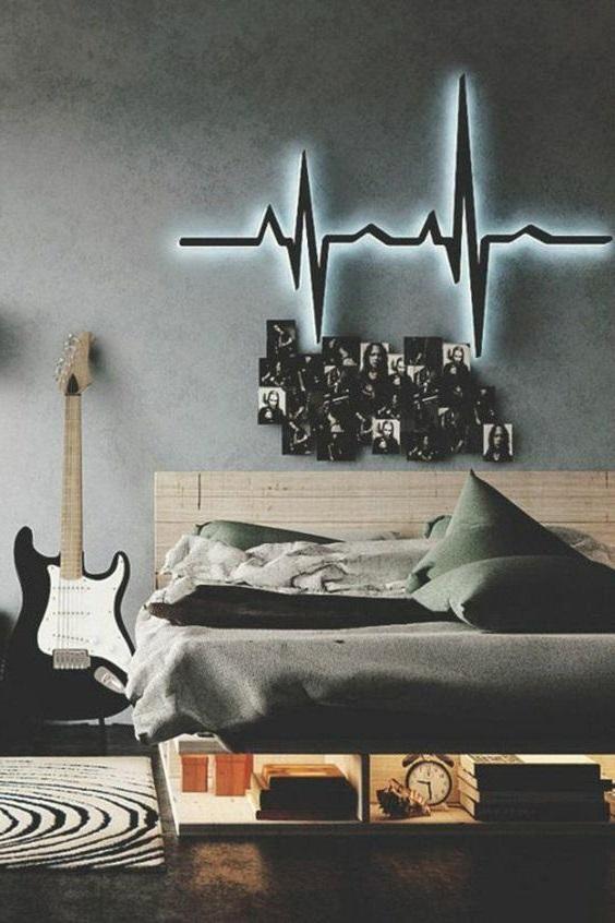Chambre Ado Garcon Musique Rock