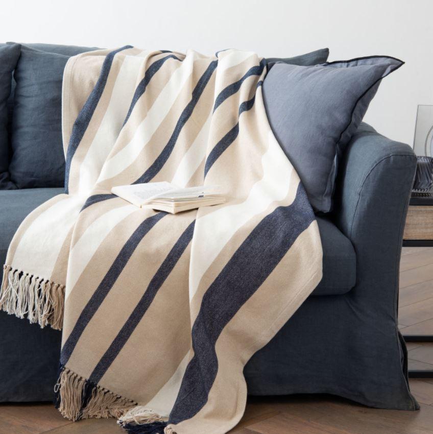 Salon Cocooning Plaid En Coton