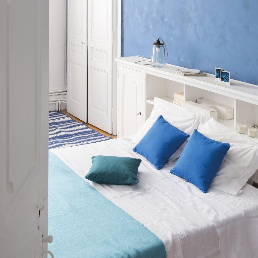 Chambre Bleu Canard Bleu Effet Chaux