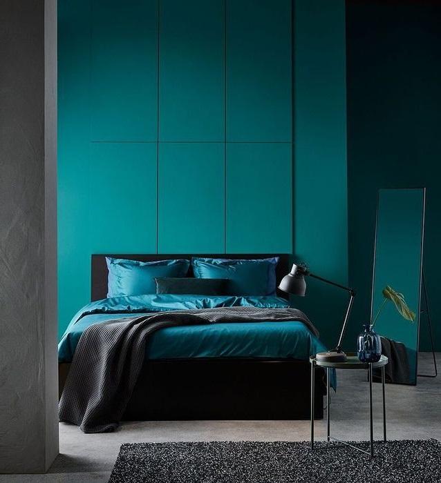 Chambre Bleu Canard Et Noir
