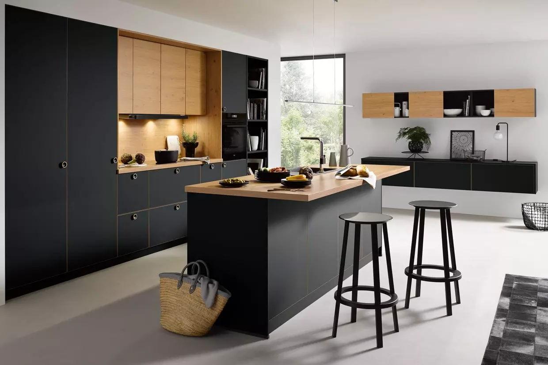Cuisine Noire Et Bois Moderne Collection 2020