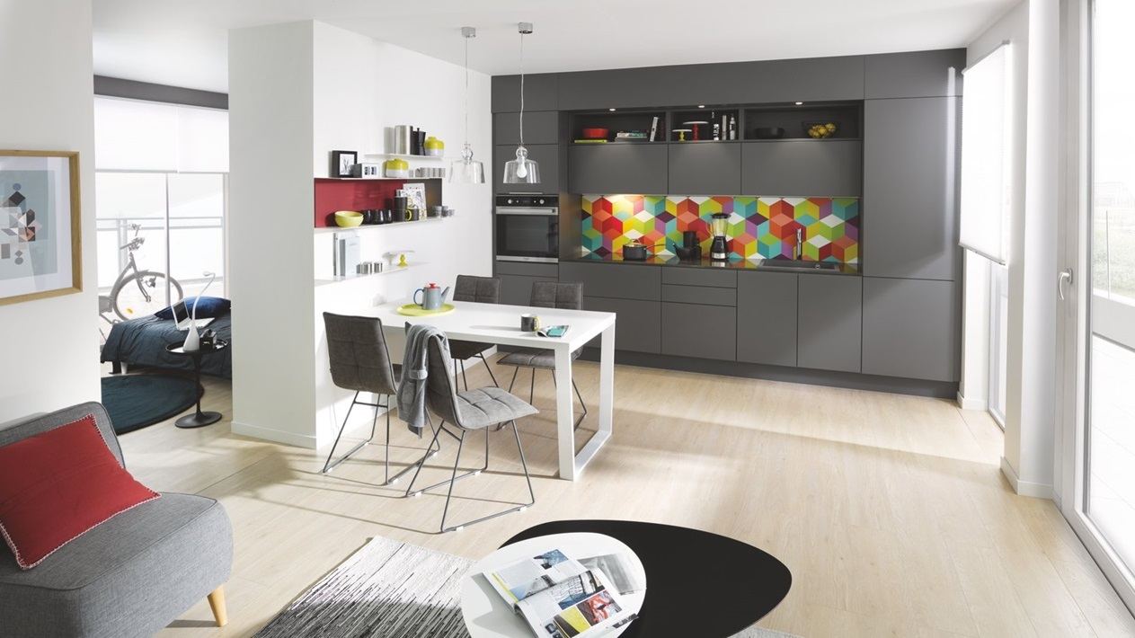 Cuisine Soft Grey Credence Couleur