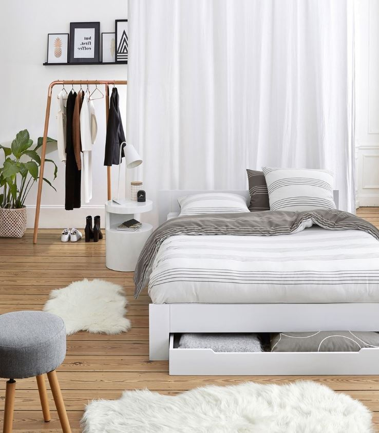 Chambre A Coucher Moderne Blanche