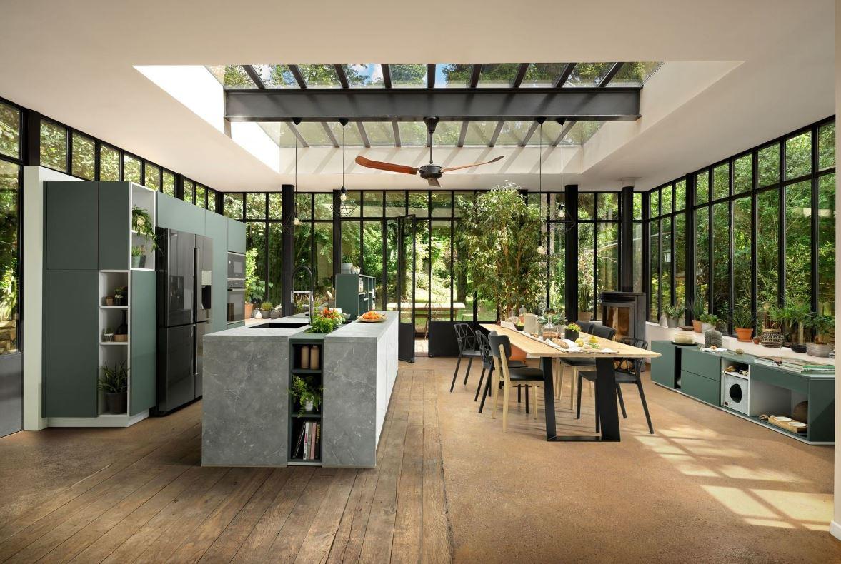 Cuisine Moderne Ambiance Jardin Interieur