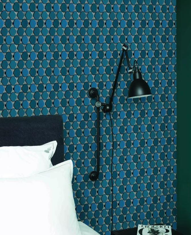 Chambre Bleu Canard, Vert Et Blanc