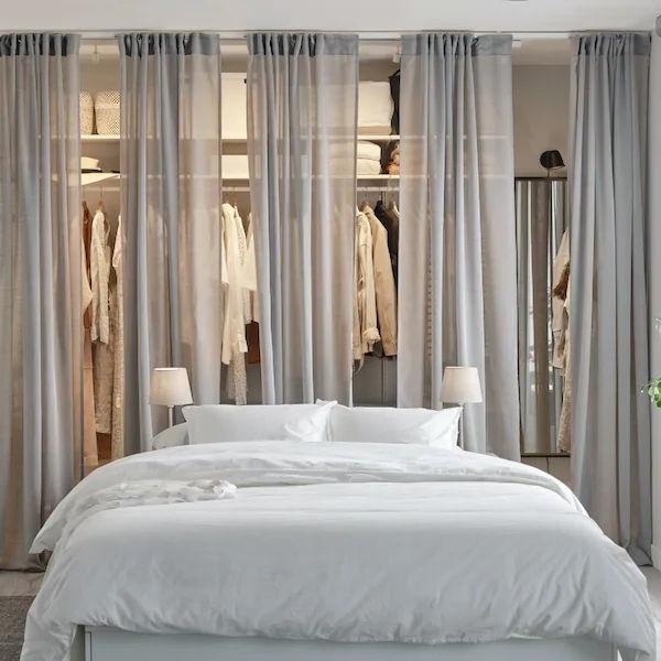 Chambre Moderne Blanche Et Grise Avec Dressing