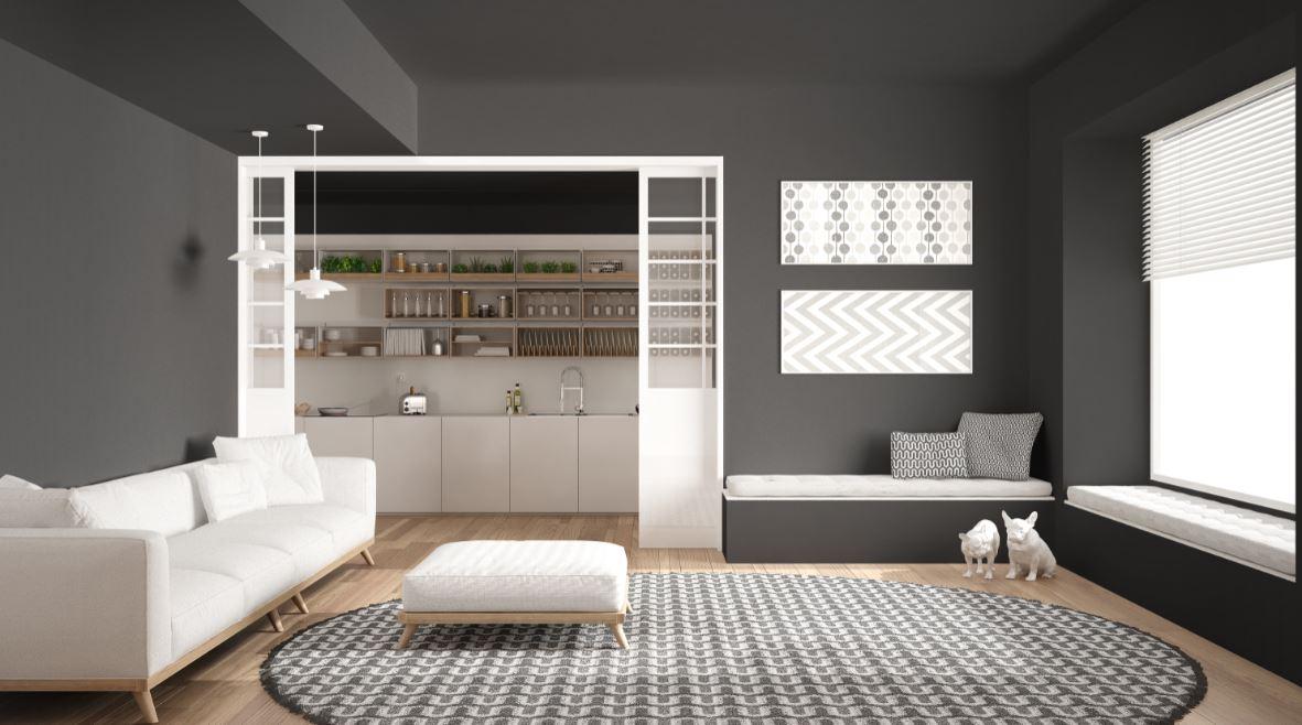 Verriere Blanche Design Minimaliste