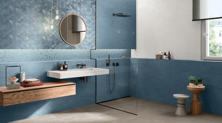 Salle De Bain Design Bleu