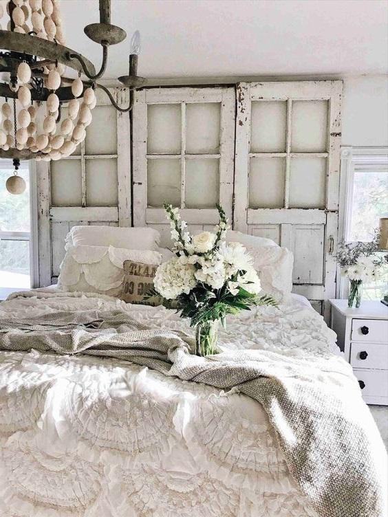 Chambre Shabby Chic Fleurs