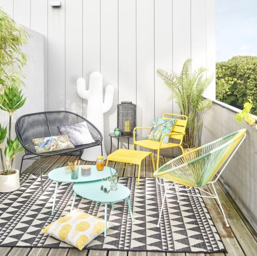 Salon De Jardin Avec Touche Vert Celadon