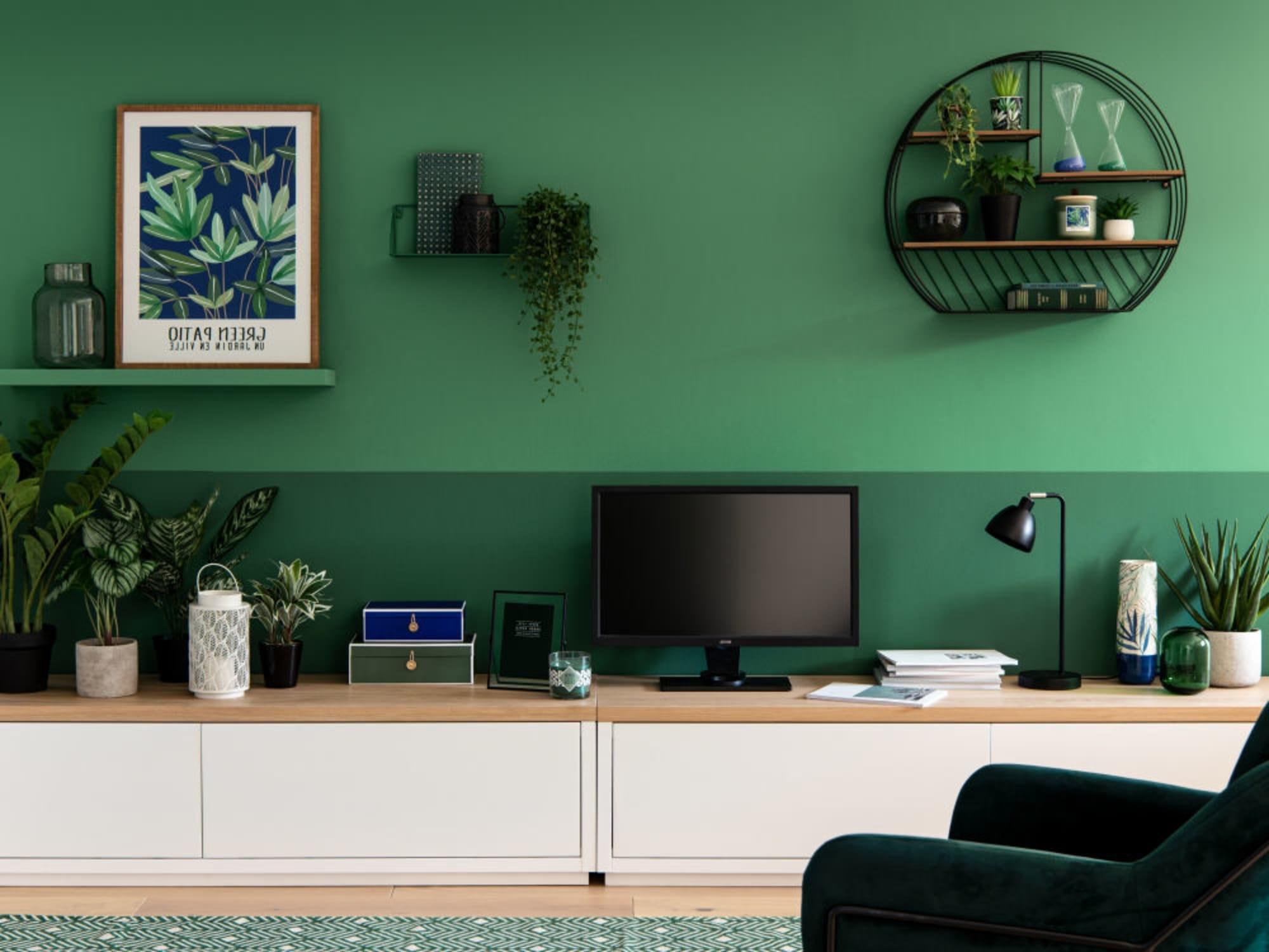 Salon Vegetal Vert Sapin